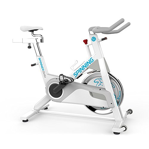 Spinner Women's Bella Indoor Cycling Bike with Four Spinning DVDs, White