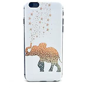 ZMY elefante y la cubierta dura estrellas patrón de plástico para el iPhone 6 Plus
