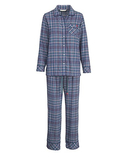 Woolrich Women's First Light Flannel Pajama Set, NEPTUNE (Blue), Size S