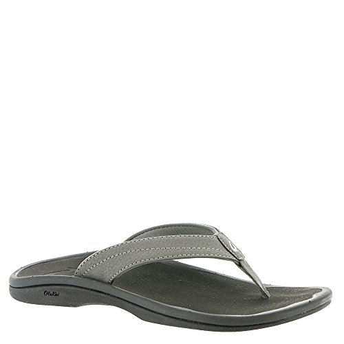 OLUKAI Women's Ohana Sandal, Basalt/Grey, 6 M US