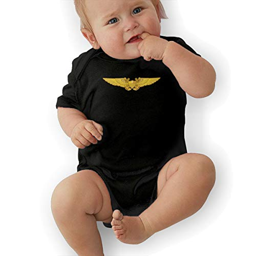 KOKOBABY Navy Flight Officer Wings Baby Organic Onesies Organic Bodysuits ()