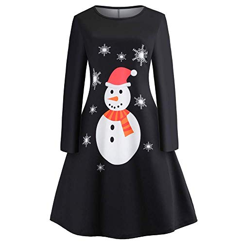 Mini Donna Swing Da Pizzo Vintage Dress Abbigliamento Lunga Party Manica Rockabilly Maniche Natale Lunghe Cocktail Cross Schwarz Abito Retro Di Girocollo Yf7gy6b