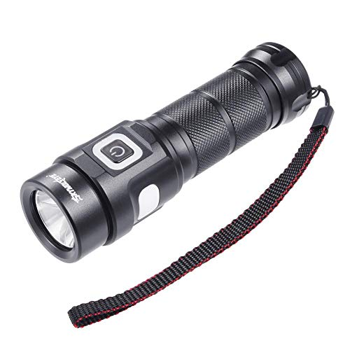 Rechargeable Flashlight, LED Torch, Portable Super Bright Flashlight,1500 Lumens,IP65 Water Resistant, with Red Light Power Reminder Warning Light,Indoor/Outdoor (Camping, Hiking and Emergency (Night Fighter Tactical Flashlight)