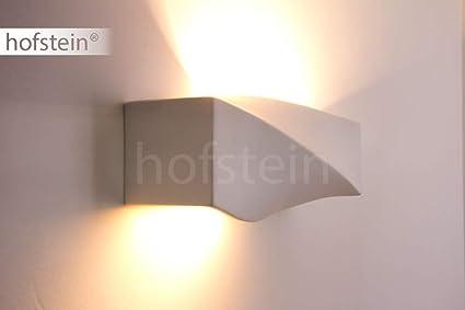 Lámpara de pared Suzu, Fabricada en yeso (se puede pintar
