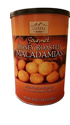 Savanna Orchards Gourmet Honey roasted Macadamia nuts 20 oz jar