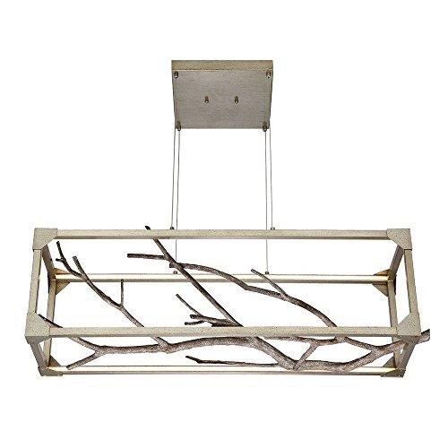 - Eurofase 30078-017 Aldo Natural Branch LED Linear Chandelier 40.5 Inches Long-Model, Antiqued Silver Frame