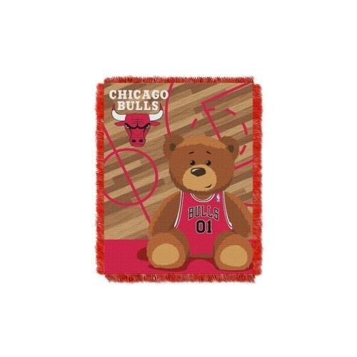 NBA Chicago Bulls Half Court Woven Jacquard Baby Throw, 36