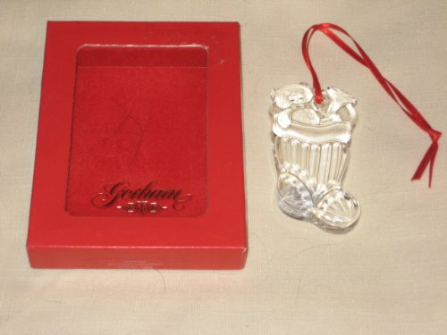 Vintage Gorham Crystal Christmas Stocking Tree Ornament 1 1/2 x 3 Inches - Made In Germany