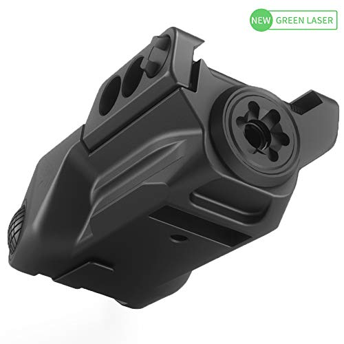 - Laspur Advanced Optics Sub Compact Tactical Rail Mount Low Profile Laser Sight, Build-in Rechargeable Battery for Pistol Rifle Handgun Gun (Green)