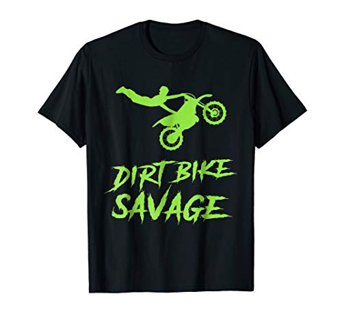 Dirt Bike Shirt for Kids Motorcross Youth Rider Savage Tee