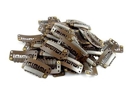 Clips para extensiones de cabello y postizos de 32mm (20 unidades)