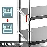VBENLEM Stainless Steel Shelving 60x18.5 Inch 4