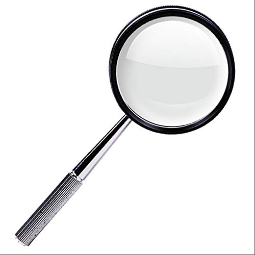 Handheld Magnifying Glass For Reading 3X HD,Magnifier Lens For Senior, Low Vision, Books, Map, Hobbies ()