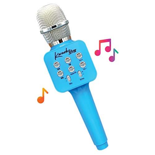 🥇 Move2Play Karaoke Star Blue – Bluetooth Karaoke Microphone for Kids