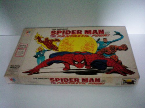 (VINTAGE GAME -- The Amazing Spiderman Game with The Fantastic Four -- Milton Bradley Company 1977 -- complete as shown)