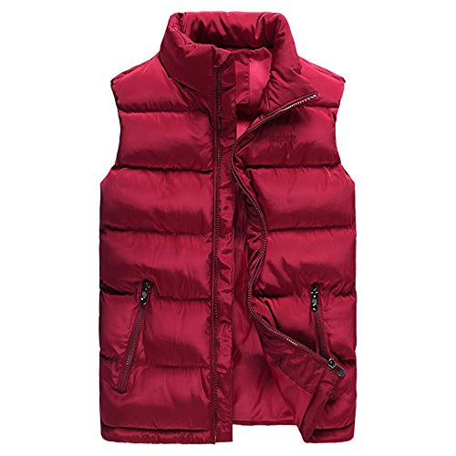 Solid Baseball Jerseys Badger (YOcheerful Men Vest Autumn Winter Solid Waistcoat Vest Outerwear Jacket Coat Gilet Sleeveless Top Blouse)