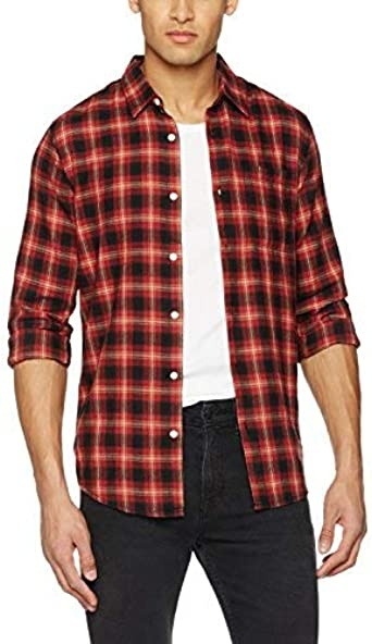 New Look 3899289 Camisa, Multicolor (Red Pattern), XL para ...