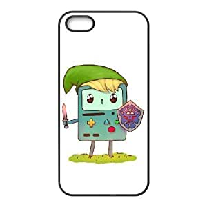 Customized Beemo Adventure Time Cell Phone Case for Iphone 5,5S with Time crossover