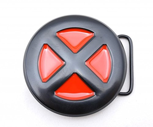X-men Belt Buckle Red Black Round X XMen -