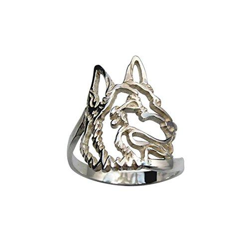 H&H jewellery Berger allemand bague d'argent - 61; Bigouterie d'argent - Bague (titre 925/1000)