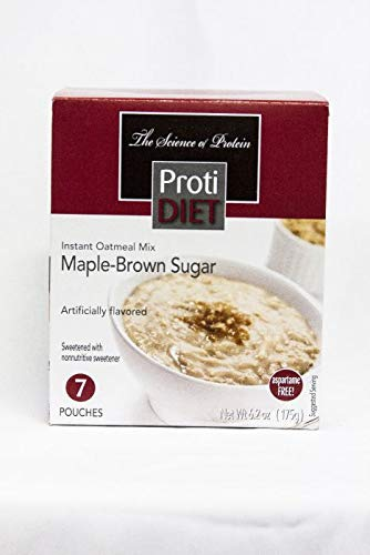 Ideal Protein Compatible ProtiDiet High Protein Maple-Brown Sugar Instant Oatmeal Mix (Best Instant Oatmeal For Weight Loss)