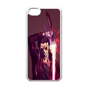 No More Heroes Travis Touchdown Arte Anime Goichi Suda Caso 99.005 iPhone 5C teléfono celular funda blanca del teléfono celular Funda Cubierta EEECBCAAL72383
