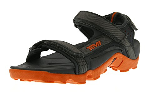 Teva Tanza Y's Unisex-Kinder Sport- & Outdoor Sandalen, Grau (grey/orange 519), EU 37