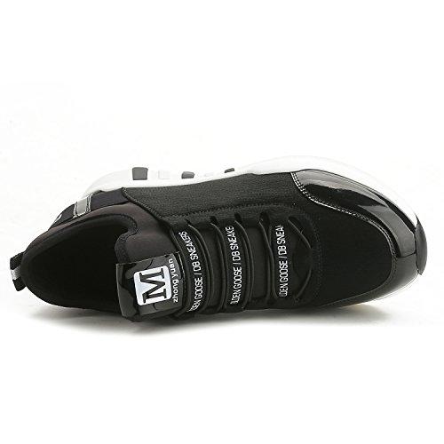 Sintético Zapatilla De Negro Baja Material La 01 Nago Mujer v4pwAA