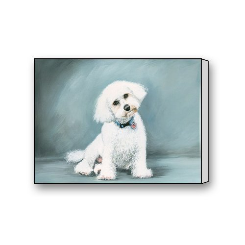 Bichon Frise Dog Painting Art Custom Canvas Print Personal Photos Print on Canvas Ready to Hang on Your Wall as a Modern Art 12