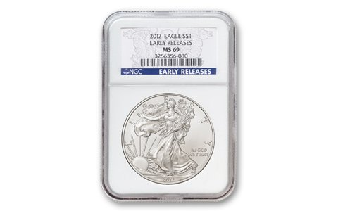 Ngc Certified Ms69 Early Release - 2012 - Uncirculated Silver Eagle Early Releases Dollar MS69 NGC