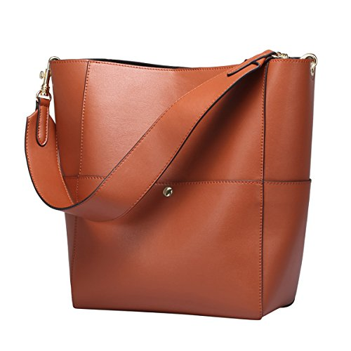 S-ZONE-Womens-Fashion-Vintage-Leather-Tote-Shoulder-Bag-Handbag-Purse