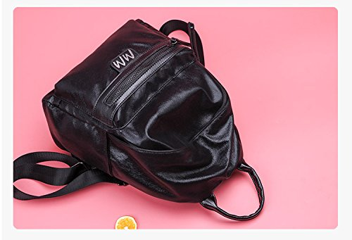 bandoulière en Femmes sac imperméable l'abrasion et sac sac dos à à lycéen étudiant cuir couleur vive Ulzzang résistant dos à PU Black simple à SazqFSw