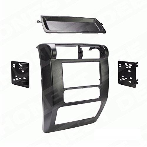 Metra 95-6541 Matte Black Double DIN Stereo Dash Kit for 2003-2006 Jeep Wrangler
