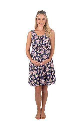 Baby Be Mine 3 in 1 Labor/Delivery/Nursing Hospital Gown Maternity,, Hospital Bag Must Have (S/M, Eve)