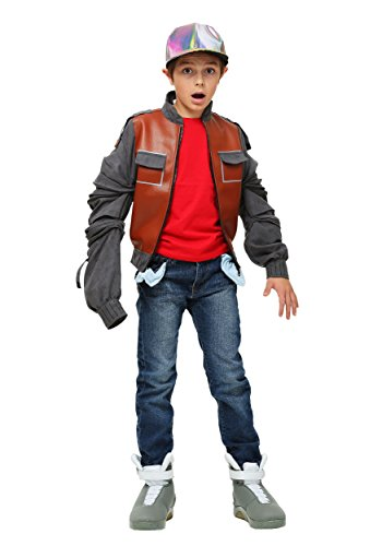 Fun Costumes boys Kids Back to the Future Marty McFly Jacket (Large, Multi-Colored) (Marty Mcfly Costume Jacket)