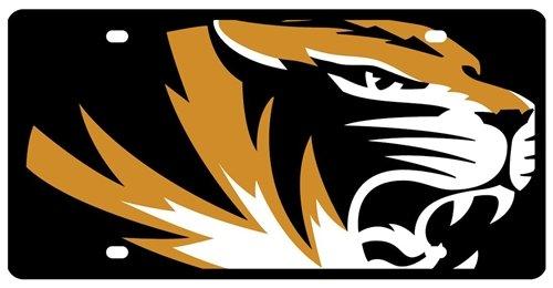 Missouri Tigers License Plate - Acrylic Mega Style ()
