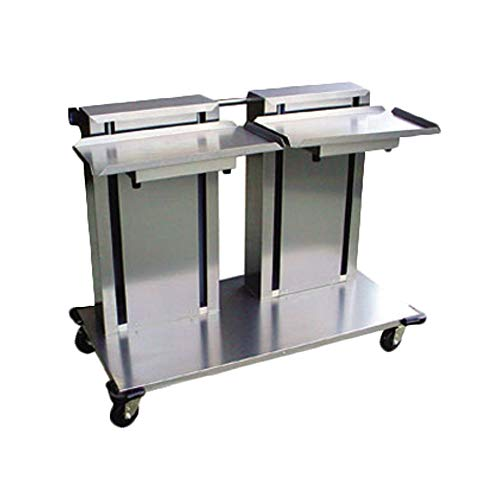 Lakeside 2820 Mobile Tray & Glass/Cup Rack Dispenser, Cantilever Style for 20