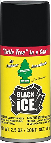 076171090553 - Little Tree in a CAN Car Air Freshener 2.5 oz Aerosol Spray, Black Ice Scent carousel main 0