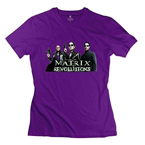 Cute The Matrix Neo Trinity Morpheus Women's T-shirt Purple Size XL