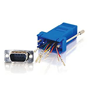 C2G / Cables To Go 02946 RJ45 to DB9 Male Serial RS232 Modular Adapter