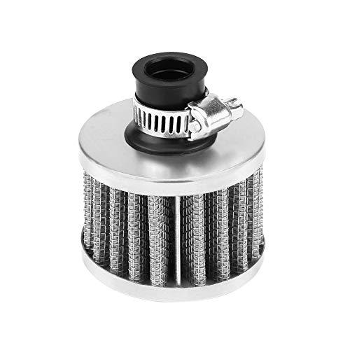 Engine Air Intake Filter, Universal Air Filter Car Replacement Air intake Filter Air Intake Filter Kit(Silber):