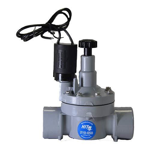 HIT Rain Pro 210-050 1 in. PVC FPT Valve w/Flow Control (Pvc Control Valve)
