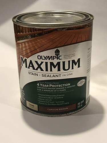 Olympic 1-Quart Canyon Brown Semi-Transparent Exterior Stain 57505A/04 -  57505A-04