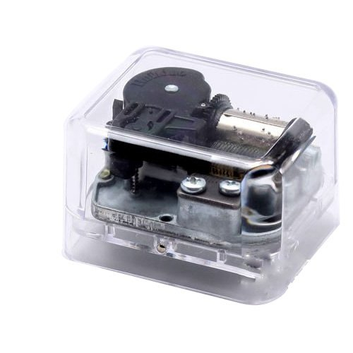 Laxxury Windup Plastic Music Box With The Castle In The Sky Tune£¬Transparent Bottom by Laxxury