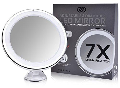 Spiegel Make Up : Sanheshun fach vergrößerung led licht reise make up spiegel
