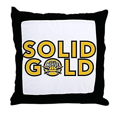 Pattebom Northern Kentucky Nku Norse Solid Gold Throw Pillo Canvas Throw Pillow Covers 18 x 18 Home Decor Farmhouse Throw Pillows Case Cushion Covers Decorative for Gifts