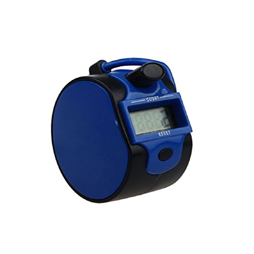 Lowpricenice(TM) Fashion 5 Digit Electronic LCD Digital Hand Tally Plastic Counter Golf (Blue)