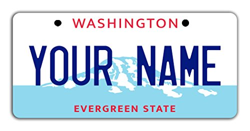 State License Plate (BleuReign(TM) Personalized Custom Name Washington State Bicycle Bike Moped Golf Cart 3