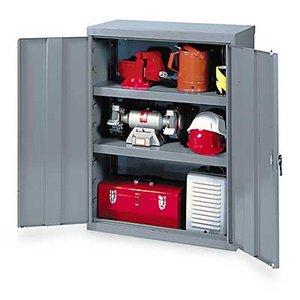 Edsal VC1500G Vault Storage Cabinet, Assembled, 2 Shelves, 1000 lb. Capacity, 36