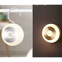 Sailstar Night Light, Warm White LED, 600mAh USB Rechargeable, Smart Human Body Induction Wall Light Hook Magnetic Stick…